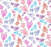花卉春天郁金香清洗无缝的样式 库存照片