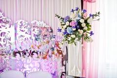 花卉构成由不同的花制成,装饰为 免版税图库摄影