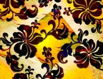 花卉构成的热带 库存图片