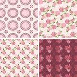 花卉样式和无缝的背景 打印在织品上 库存照片