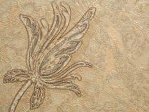 花卉样式墙纸巴落克式样、锦缎无缝的背景灰色和白色 库存图片