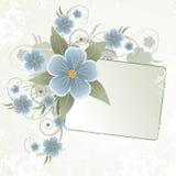 花卉框架文本 库存照片