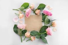 花卉框架构成系列 免版税库存照片