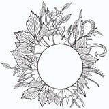 花卉框架构成系列 种族减速火箭的设计 皇族释放例证