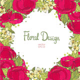 花卉框架构成系列 库存照片