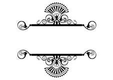 花卉框架标签维多利亚女王时代的著&# 图库摄影