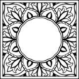 花卉框架的剪影 图库摄影