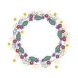 花卉框架箱子平的设计模板 库存照片