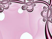 花卉框架粉红色 免版税库存照片
