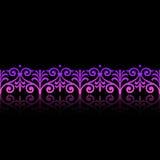 花卉框架紫色 免版税图库摄影