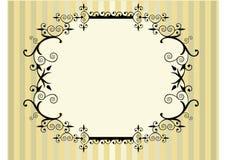 花卉框架维多利亚女王时代的著名人&# 免版税图库摄影