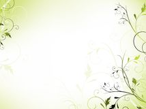 花卉框架绿灯 免版税图库摄影