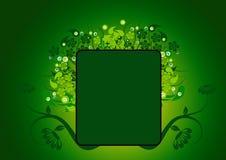 花卉框架绿色 库存图片
