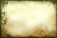 花卉框架老纸样式纹理 免版税库存照片