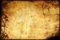 花卉框架老纸样式纹理 库存照片