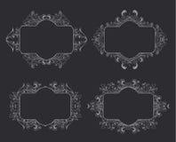 花卉框架葡萄酒 设计的要素 免版税图库摄影