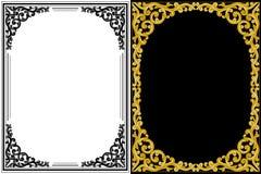 花卉框架葡萄酒 库存图片
