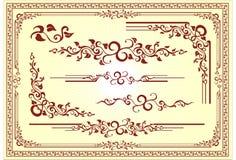花卉框架装饰品向量 免版税库存照片