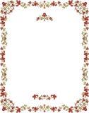 花卉框架装饰样式葡萄酒 免版税库存图片