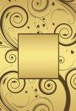 花卉框架金子向量 免版税库存照片