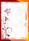 花卉框架grunge向量 库存例证