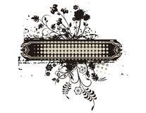 花卉框架grunge系列 库存照片