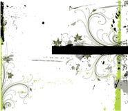 花卉框架grunge 免版税库存图片