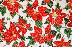 花卉模式一品红 库存图片