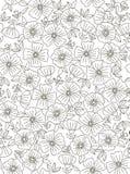花卉模式向量 库存照片