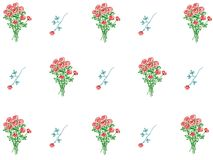 花卉模式墙纸 免版税库存照片