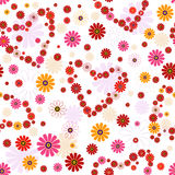 花卉模式无缝的华伦泰 图库摄影