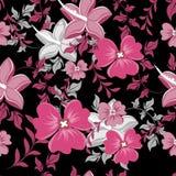 花卉模式无缝的向量墙纸 对容易的制造的无缝的样式阻力所有小组到样片酒吧里 图库摄影