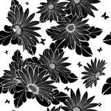 花卉模式无缝的向量墙纸 免版税图库摄影