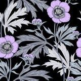 花卉模式无缝的向量墙纸 库存图片