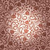 花卉模式无缝的向量墙纸 向量例证