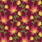 花卉模式无缝的向量葡萄酒 库存照片