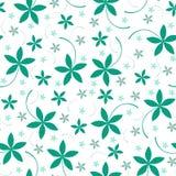 花卉模式无缝的向量 库存图片