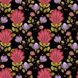 花卉模式无缝的向量 免版税库存图片