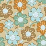 花卉模式无缝的墙纸 免版税库存图片