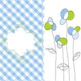 花卉模式无缝的墙纸 库存照片