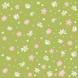 花卉模式无缝的墙纸 库存图片