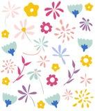 花卉模式无缝的墙纸 免版税图库摄影