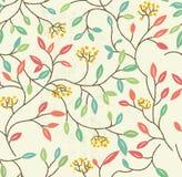 花卉模式无缝的春天 库存例证