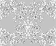 花卉模式无缝的盖瓦墙纸 库存图片