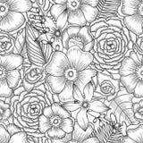 花卉模式无缝的葡萄酒 免版税库存图片