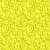 花卉模式无缝的黄色 库存例证