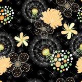 花卉模式浪漫夏天 免版税库存照片