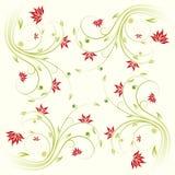 花卉模式滚动 免版税库存图片