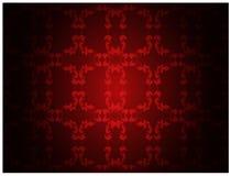 花卉模式红色墙纸 免版税图库摄影