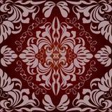 花卉模式红色无缝 免版税库存照片